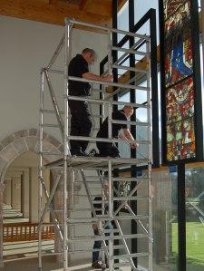 Kenny & Andrew deinstalling Boppard panels