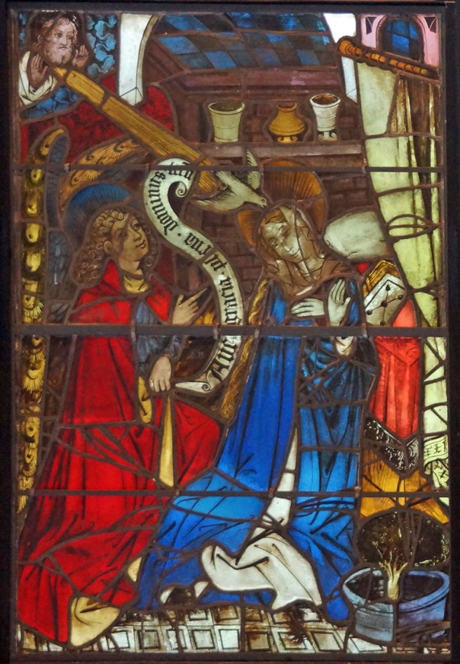 Annunciation Panel from the Boppard Life of Christ and the Virgin Window