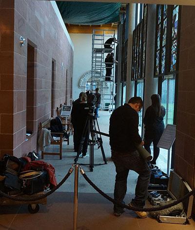 BBC cameras at the ready