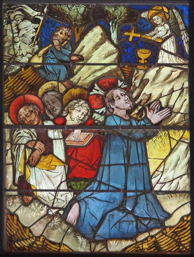 Burrell Collection Agony in the Garden Panel from the Life of Christ and the Virgin Window
