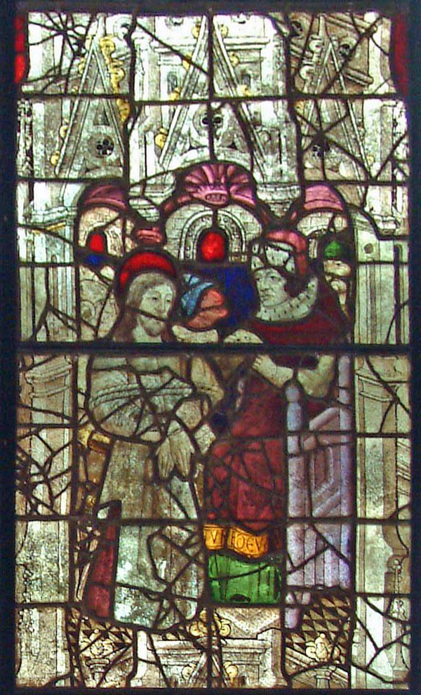 Burrell Collection: Life Of Christ Window - Detail of Christ Before Pilate