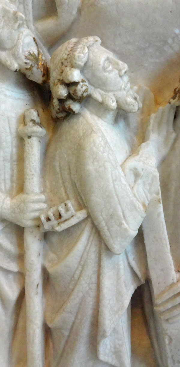 Burrell Collection - Nottingham Alabaster - The Ascension of Jesus, detail of St.Peter