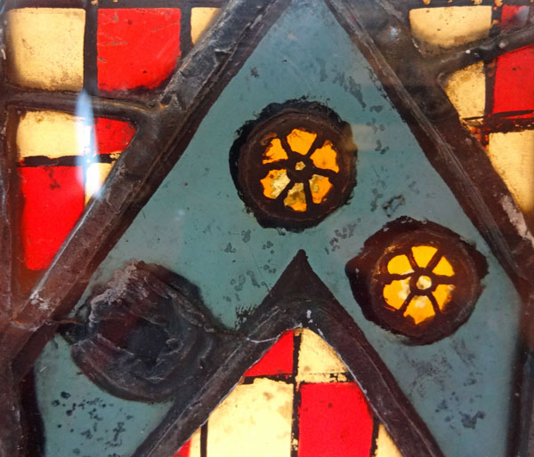 Shield Of Thomas Harowdon - detail of jewels
