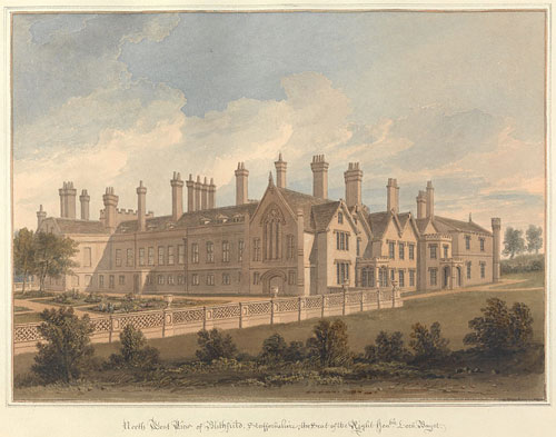 North West View of Blithfield; Staffordshire, the Seat of the Right Hon'ble, Lord Bagot