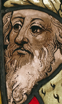 Boppard Christ Before Pilate panel - Detail of the Face of Pilate