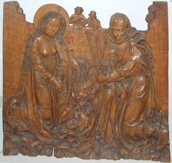 Burrell Collection - Limewood Altarpiece showing the nativity