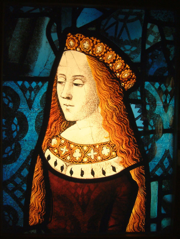 Burrell Collection - Princess Cecily from the Royal Window in Canterbury Cathedral