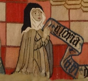 Detail of donor from Scenes from the Life of Mary