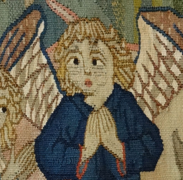 Detail of Angel from Scenes from the Life of Mary