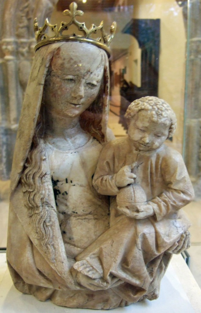 Burrell Collection - Virgin and Child sculpture South Netherlandish alabaster 1475-1500