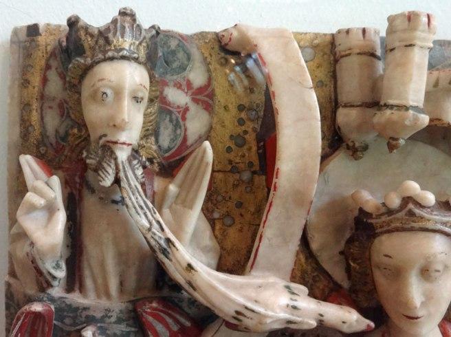Detail - Nottingham Alabaster - Annunciation