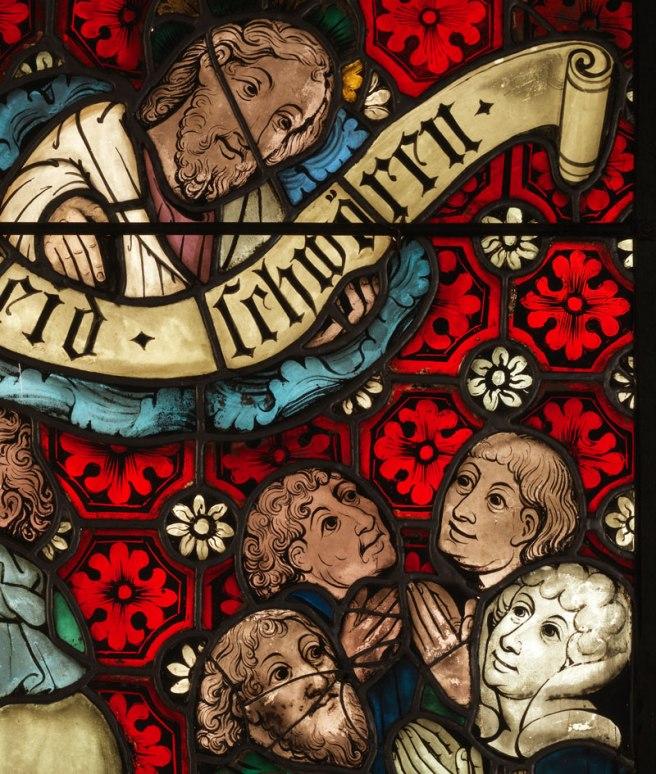 Detail of God - Boppard 8th Commandment panel
