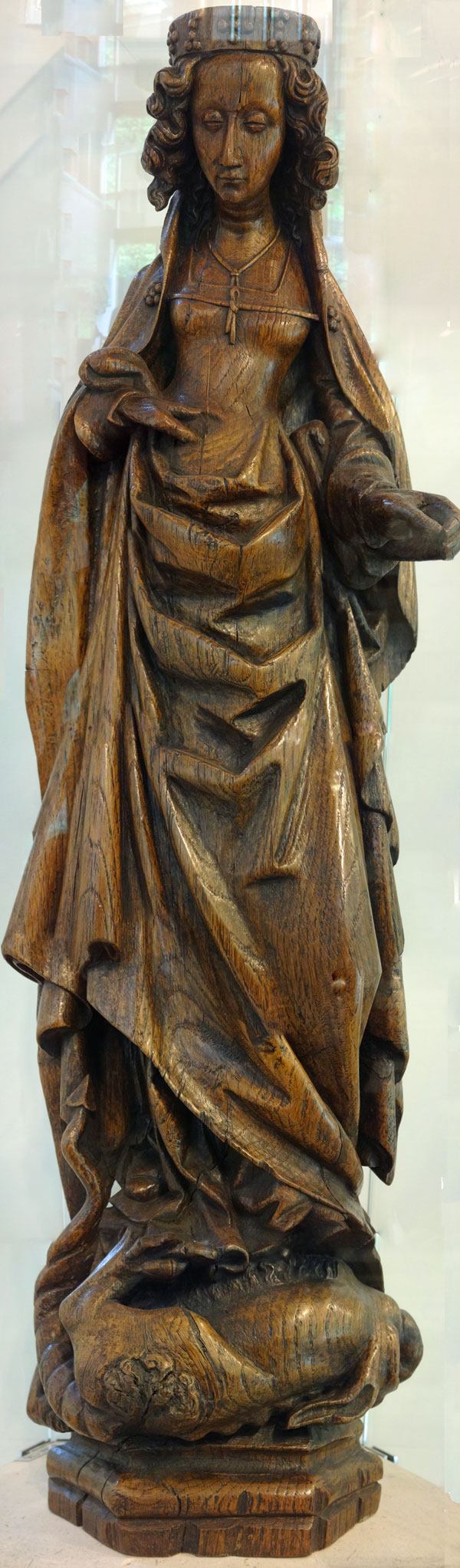 Margaret of Antioch in Oak - South Netherlandish