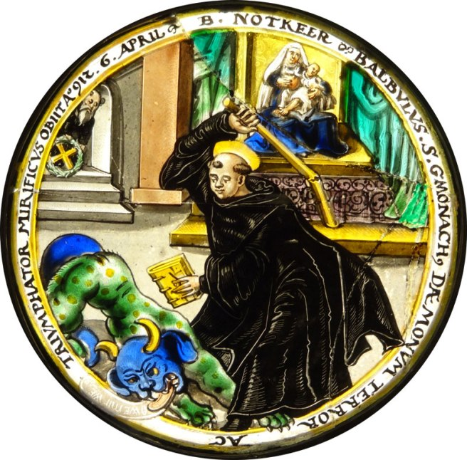 Glass roundel of Notker Balbulus