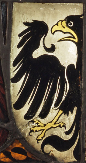 Siegfried von Gelnhausen panel - detail of shield