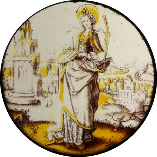 Burrell Collection - St. Barbara roundel