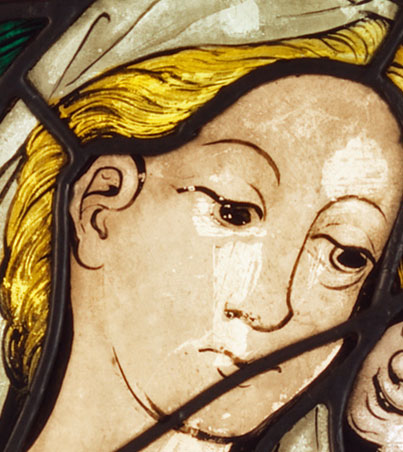 Boppard Virgin and Child - detail of the Virgin's face