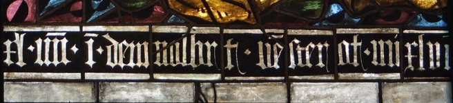 Inscription from the two Saints panels in the Burrell Collection - Right side