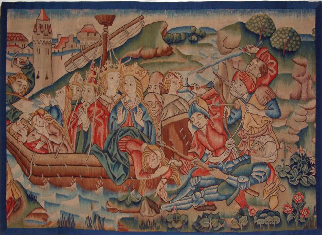 Right tapestry from Scenes from the Legend of St. Ursula - Middle Rhineland, Germany, late 15th century