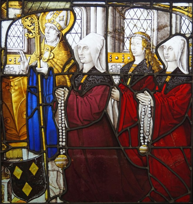 Partron Bishop Saint and Donors in the Burrell Collection