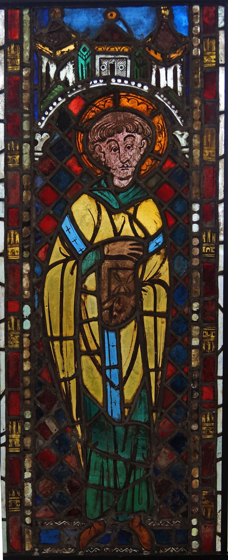 bishop saints in stained glass at the burrell boppard conservation project glasgow museums. Black Bedroom Furniture Sets. Home Design Ideas