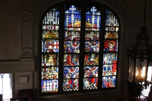 Window in Ochre Court containing stained glass from Boppard