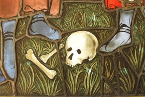 Detail of grass in  Met Boppard panels