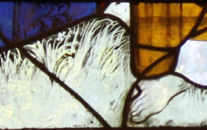 Detail of grass in Seaview panel