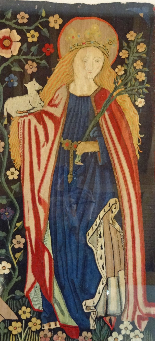 St Agnes from the Five Female Saints Tapestry