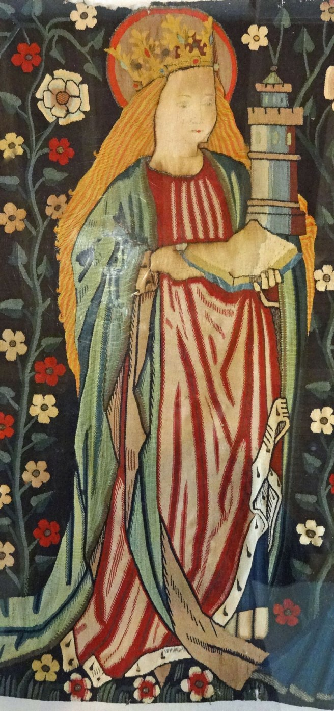 St Barbara from the Five Female Saints Tapestry