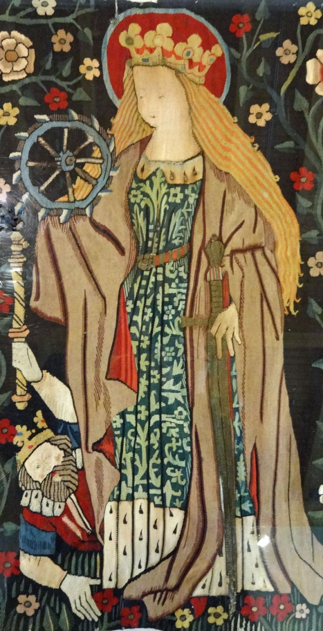 St Catherine from the Five Female Saints Tapestry