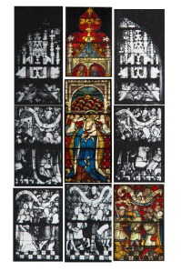 The Ten Commandments Window, panels from the Burrell Collection and Ochre Court