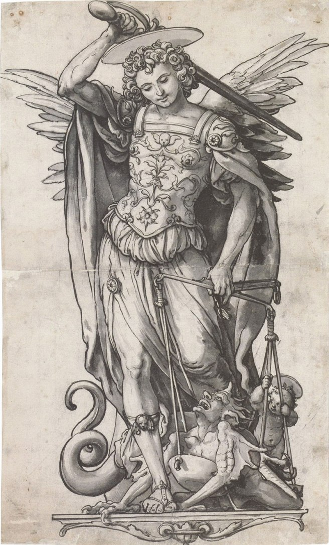 Saint Michael the Archangel by Hans Holbein - image from http://mylightsaints.blogspot.co.uk/