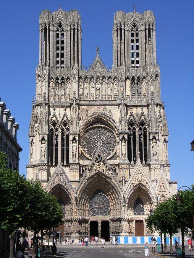 Cathedral of Reims, by bodoklecksel http://en.wikipedia.org/wiki/File:Reims_Kathedrale.jpg