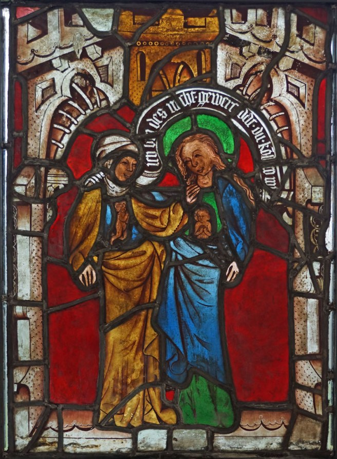 Burrell Collection, late 14th century German panel showing the Visitation