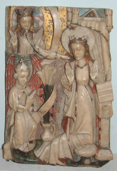 Burrell Collection - Nottingham Alabaster - The Annunciation, late 15C