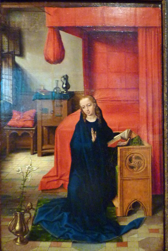 Burrell Collection - Annunciation by Master of the Prado Adoration of the Magi