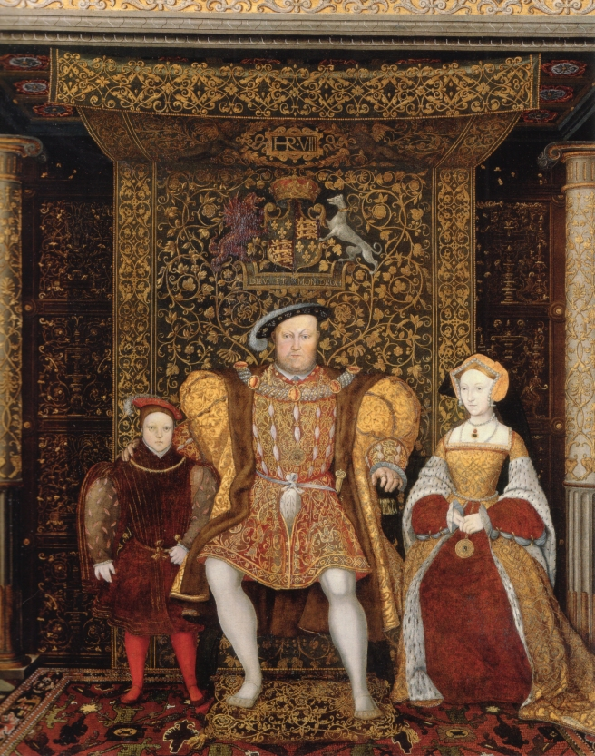Detail of The Family of Henry VIII, now at Hampton Court Palace, c. 1545 - http://en.wikipedia.org/wiki/File:Family_of_Henry_VIII_c_1545_detail.jpg
