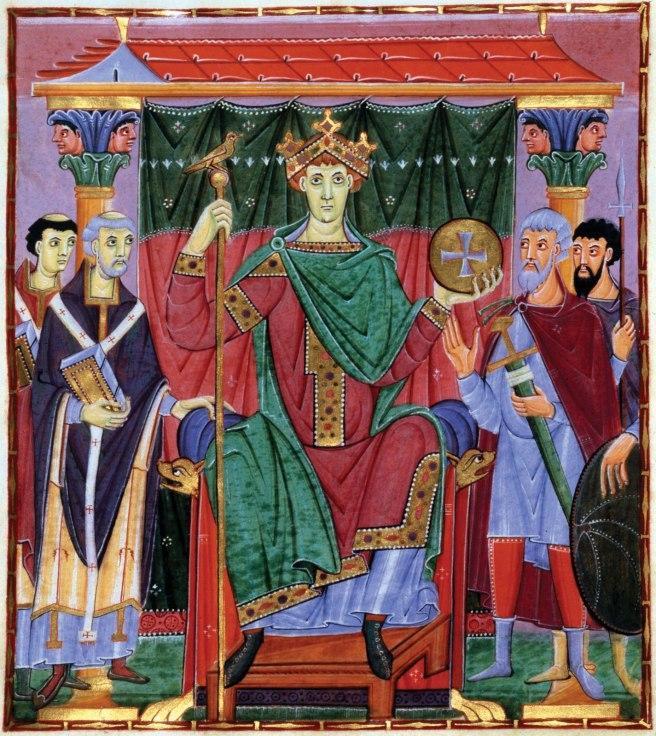 Otto III - http://en.wikipedia.org/wiki/File:Meister_der_Reichenauer_Schule_002.jpg