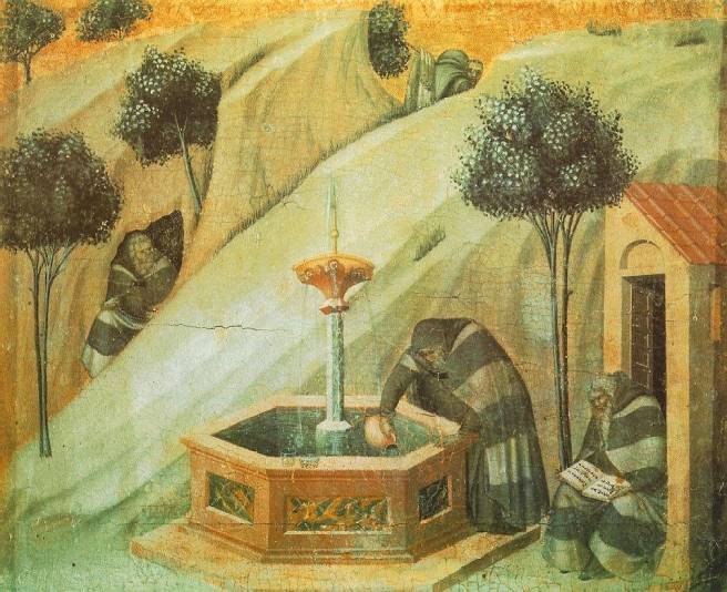Elijah's Fountain - [painting by Pietro Lorenzett