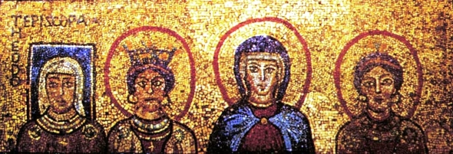 Mosaic from the chapel of St. Zeno at the church of St. Praessede, Rome http://www.clas.ufl.edu/users/sterk/women/women.html