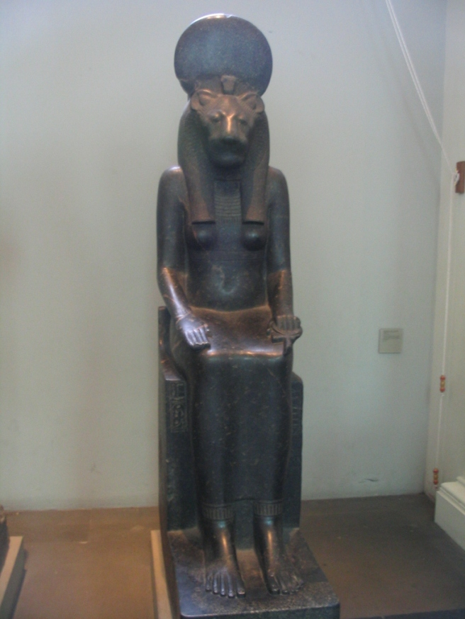 Sekhmet, from the British Museum http://upload.wikimedia.org/wikipedia/commons/d/d8/Sekhmet_%28British_Museum%29.jpg
