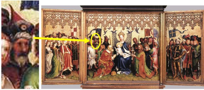 http://commons.wikimedia.org/wiki/File:Stefan_Lochner_-_Altarpiece_of_the_Patron_Saints_of_Cologne_-_WGA13341.jpg