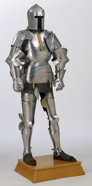 Avant Armour made in the Corio Workshop in Milan, Italy around 1445 (Glasgow Museums Collection)