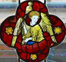 45.43 Censing Angel on display at the Burrell Collection in the Hutton Drawing Room