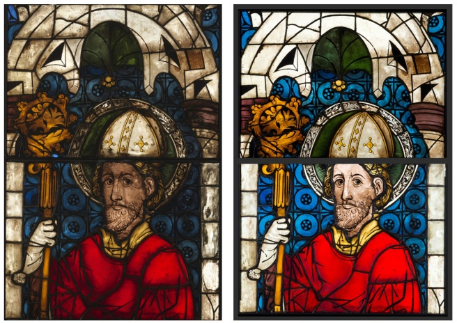 45.487.2.c-d Left: Before conservation 2012 - Right: After conservation 2014