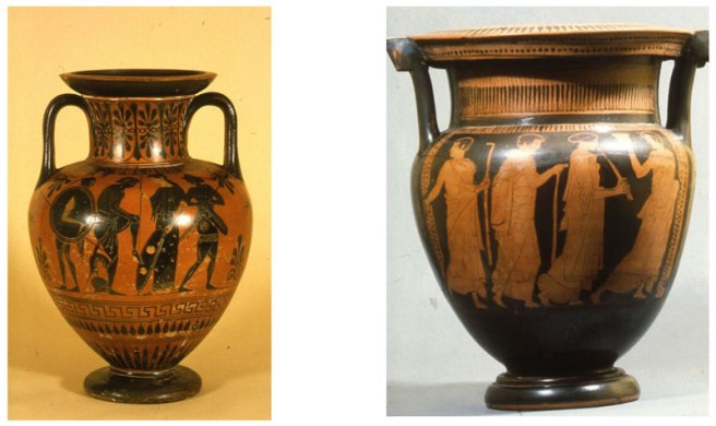 Red and Black Figure Greek Vases